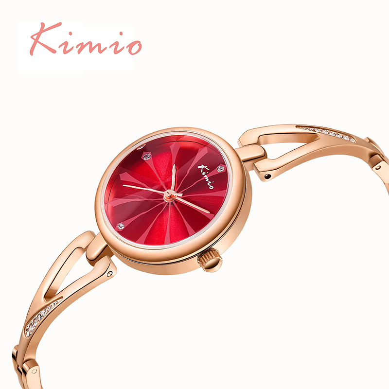 KIMIO Rose Gold Bracelet Watches For Women Wristwatch Quartz Women's Watch Brand Luxury Fashion Ladies Watch Relojes Mujer 2018 kimio brand diamond rhinestone rose gold bracelet women watches fashion woman watch luxury quartz watch ladies wristwatch clock