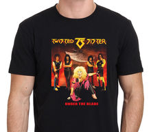 TWISTED SISTER Under The Blade Classic Rock Band T-shirt Mens Black Size: S-3XL Men Adult T Shirt Short Sleeve Cotton