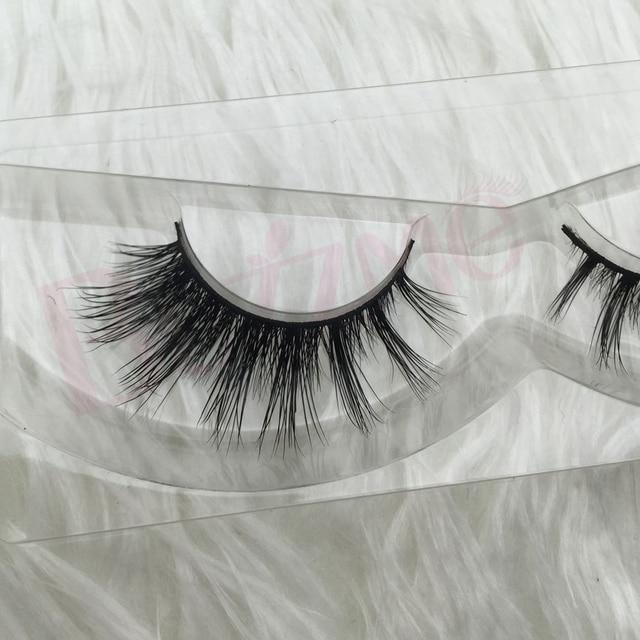 Free shipping 100% real siberian mink strip false eyelashes 3D mink faux lashes