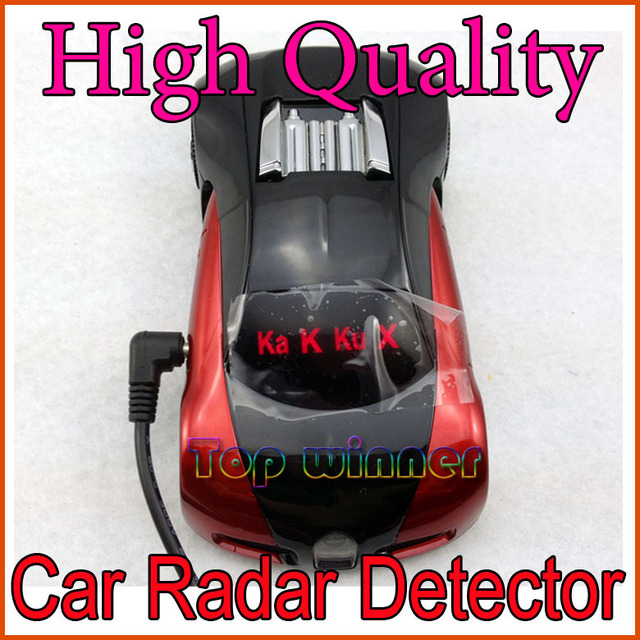 Red Color radar detector for Car with Russian/English version Voice+Free shipping!