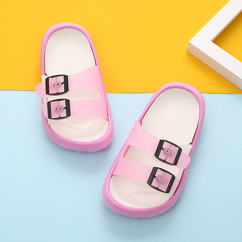 Новая летняя мультяшная детская обувь Cave мальчики девочки уличные тапочки дети пляжные вьетнамки дышащий светильник тапки для малыша - Цвет: pink