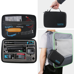 Image 5 - Portable Carry Storage Bag Protective Case Box 3 Size Handbag For GoPro Hero 8 7 6 5 4 3  Xiaomi YI Sjcam Accessories Camera Bag