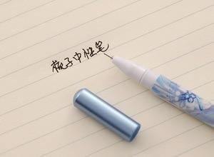 Image 5 - 36 Pcs קריקטורה מסרק סטיילינג ניטראלי עט שחור מים עט חתימת עט ניטראלי תלמיד עט כתיבה אספקת למידה סיטונאי