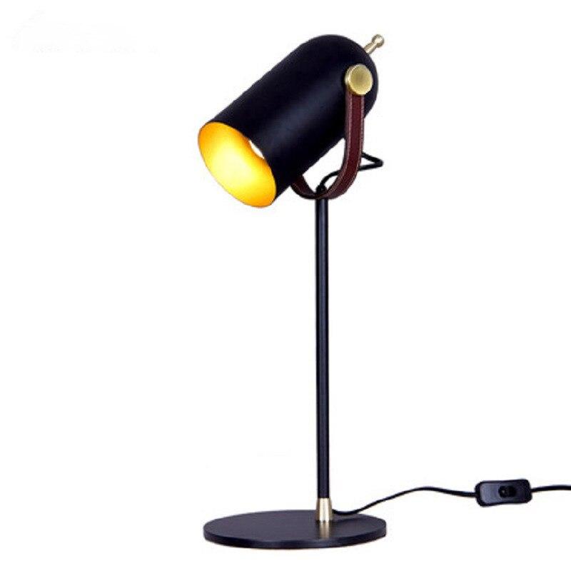 Креативная черная железная настольная лампа для спальни гостиной прикроватная тумбочка для ЕС/США/saa Разъем E27 led регулируемые черные хип хоп настольные лампы старинная настольная лампа