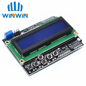 Image 1 - Freeshipping 10 stücke LCD 1602 charakter LCD eingang/ausgang expansion board LCD Tastatur Schild