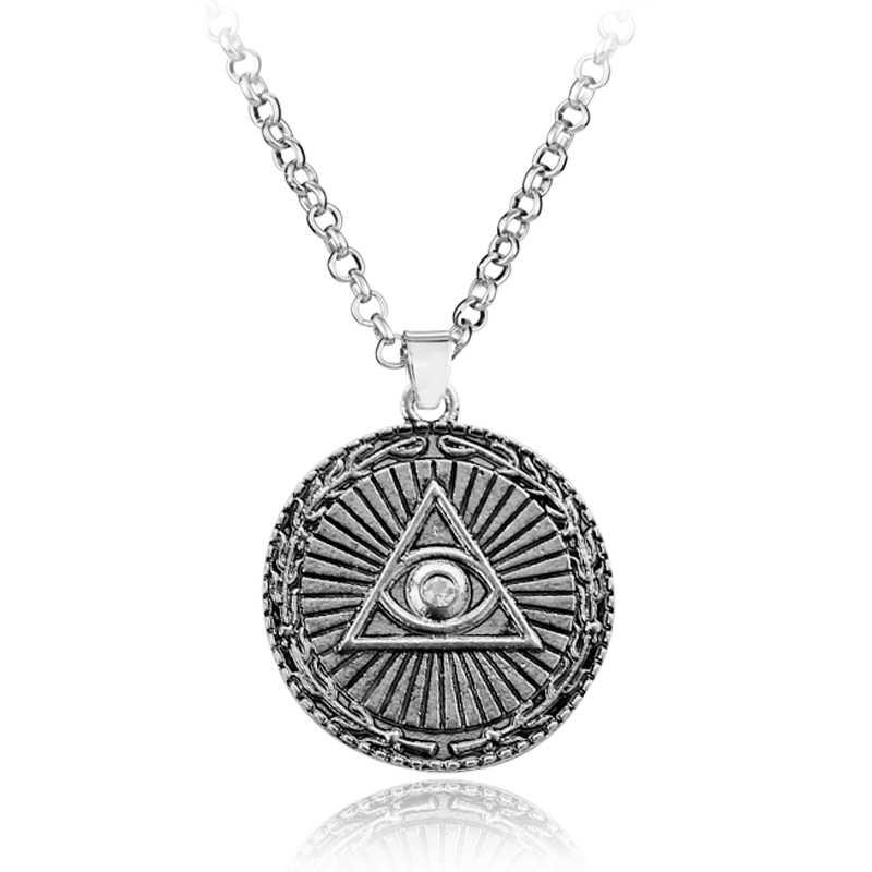 Острый глаз ожерелье Weduli амулет глаз Древняя египетская религия ретро кулон-талисман в индийском стиле символ ожерелье и подвески Панк ювелирные изделия
