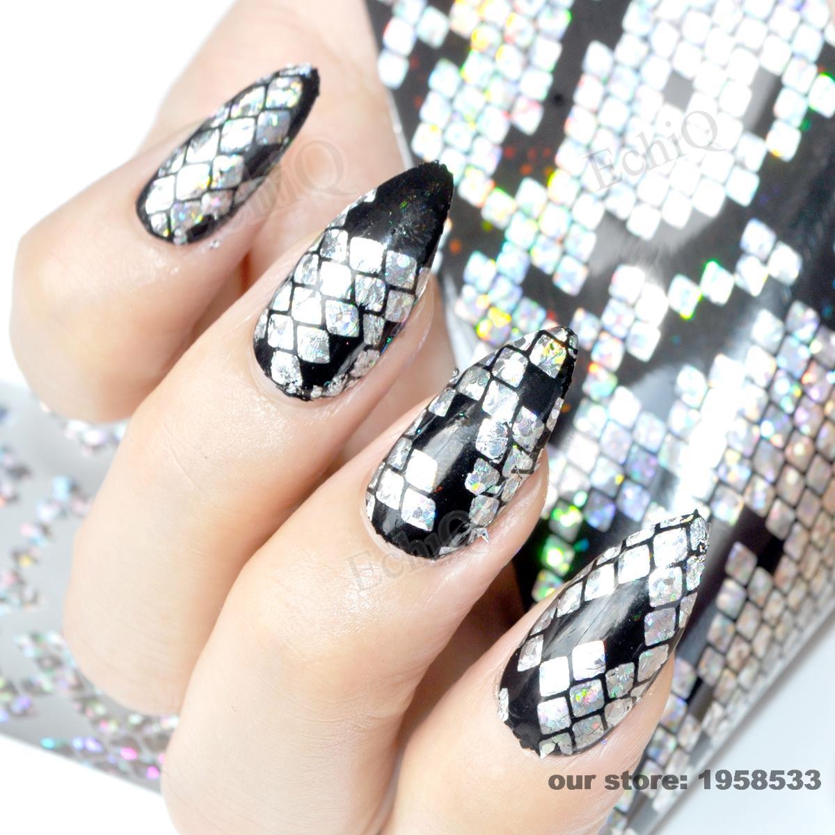 Nail Art Ideas nail art online store : 100cmx4cm Holographic Nail Art Transfer Foils Sticker Shiny Snake ...