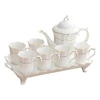Европейский стиль керамики, набор кофейных чашек, домашний чай, термостойкие модные чашки для гостиной, wx9081756
