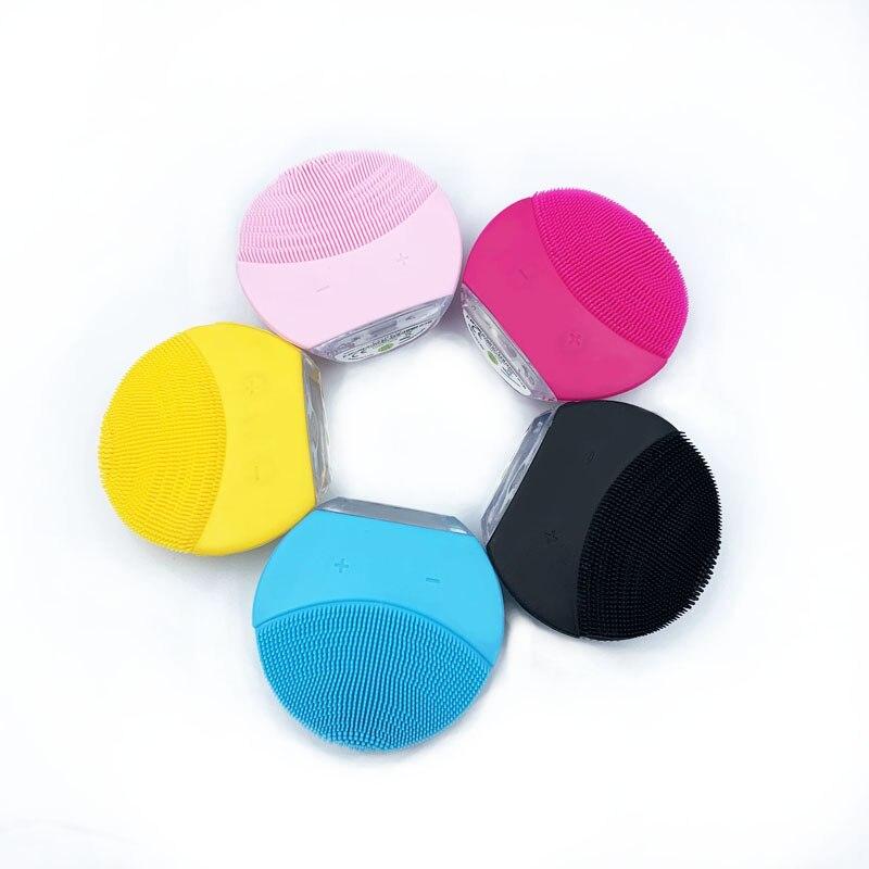 Elektrische Mini gesichts reinigung massager pinsel für gesicht waschen reiniger maschine tiefe sauber Silikon Reiniger massage gerät