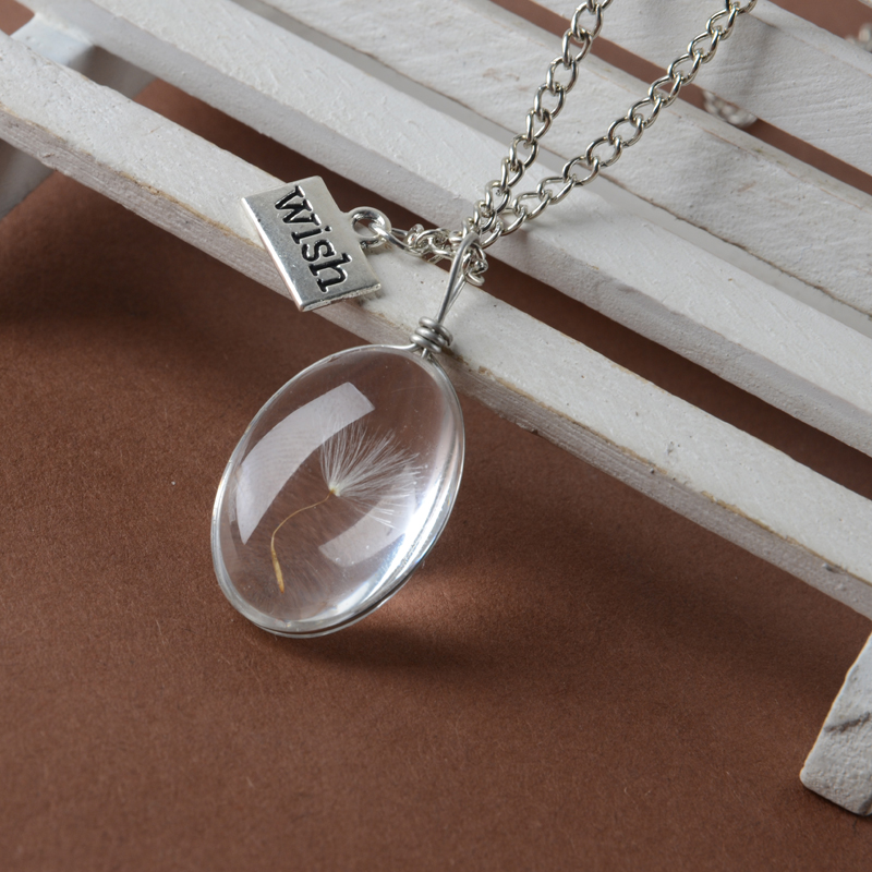 Precious egg shape Vial Necklace