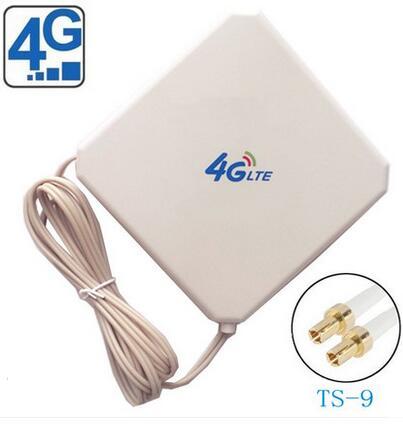 Antenne wifi de signal d'intérieur de l'antenne 35dBi 4G de correction d'oshinvoy LTE 4g avec l'antenne à gain élevé de Ts9 4G