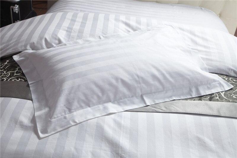 Καθαρή λευκή βαμβακερή λωρίδα - Αρχική υφάσματα - Φωτογραφία 4