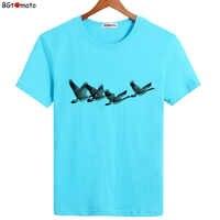 Camiseta de ganso salvaje BGtomato, camiseta de pájaros volando en el cielo, camisa de libertad para hombres, camisetas de cuerpo para hombre, ropa de hombre harajuku 2019