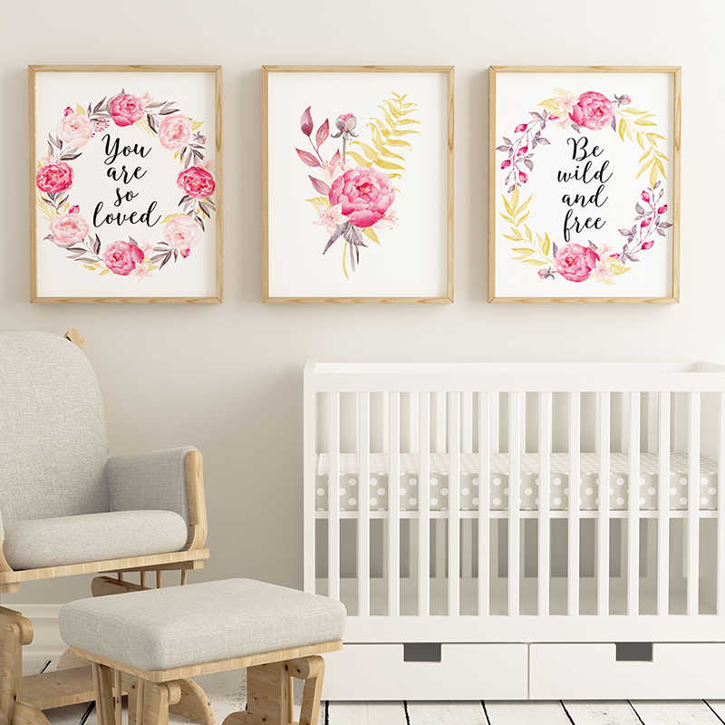 Dream Catcher Wall Art Blush Pink Canvas Painting Quotes Nursery Posters and Prints Nordic Pictures Kids Bedroom Decoration