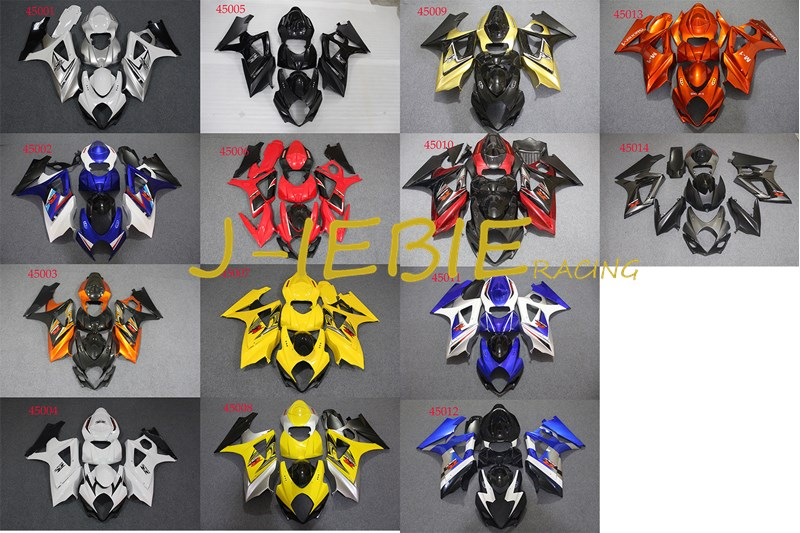 ABS Injection Fairing Body Work Frame Kit for SUZUKI GSXR 1000 GSXR1000 K7 2007 2008ABS Injection Fairing Body Work Frame Kit for SUZUKI GSXR 1000 GSXR1000 K7 2007 2008