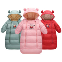 Winter Thicken Fur Baby Rompers Overalls Bodysuit Baby Clothes Jumpsuit Newborn Girls Boys Down Cotton Snowsuit Infant Snow Wear