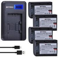 2Pcs NP FH50 NP FH30 FH40 NP FH50 Battery + LCD USB Charger for Sony HX1 HX100 A230 A290 A330 A390 CX100E CX500E CX520E HC9E
