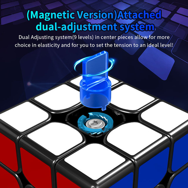 MoYu GuoGuan YueXiao EDM 3x3x3 Magic Magnetic Cube Professional YueXiao E Magnets Speed Cubse 3×3 Puzzle Cube Moyus Gift