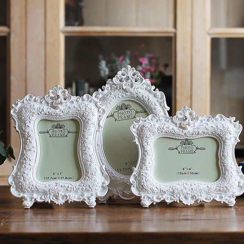 European Classic Photo Frame Hight Quality Resin Picture Frames For Home Decoration Wedding Desktop Photo Frame Birthday Gifts