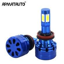 2x 4 Sides 12000LM H8 H11 Fog lights h7 led canbus H4 LED Lamps HB3 9005 HB4 9006 90W Auto light bulbs for cars 12V 24v 6000K