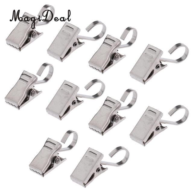acheter 10 pcs heavy duty rideau clips avec crochet anneau romain clip printemps. Black Bedroom Furniture Sets. Home Design Ideas
