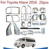 Hoge-Kwaliteit 25 Stuks Abs Chrome Plated Trim Accessoires Plated Voor Toyota Hiace 2015 2016 2017 2018 Auto Exterieur refit Is Speciale