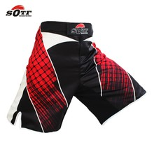SOTF Tiger Muay Thai geometric red fitness sports boxing fierce fierce fighting shorts mma shorts kickboxing muay thai clothing