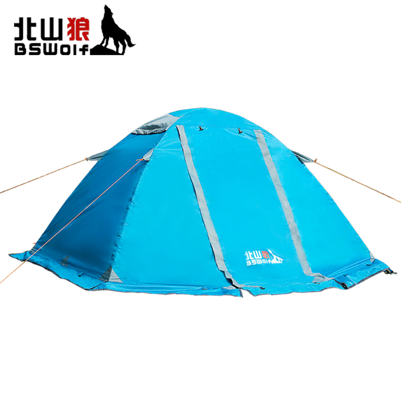 BSWolf Outdoor Ultralight Camping Tent 4 Season Tent For Climbing Or Hiking Double Layer Waterproof Beach Tent 2 Person 4 5 person portable large camping 2 rooms beach tent waterproof double layer four season outdoor hiking awning tente zp91 page 2