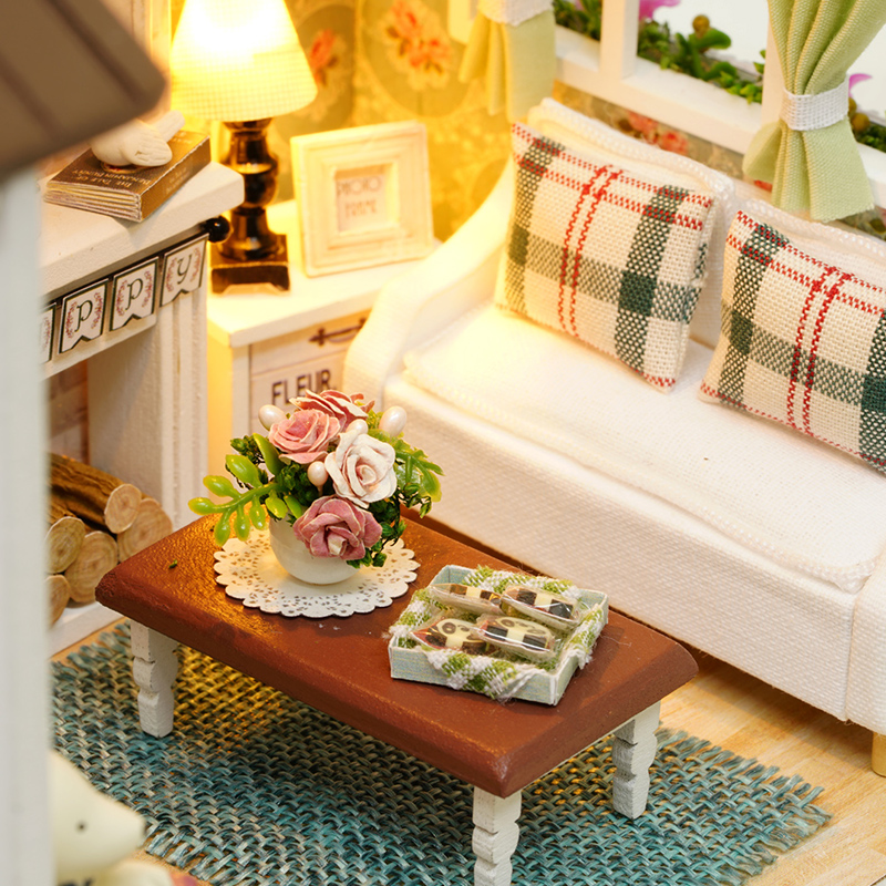 CUTEBEE-Doll-House-Miniature-DIY-Dollhouse-With-Furnitures-Wooden-House-Toys-For-Children-Gift-Happy-Times-Z008-2