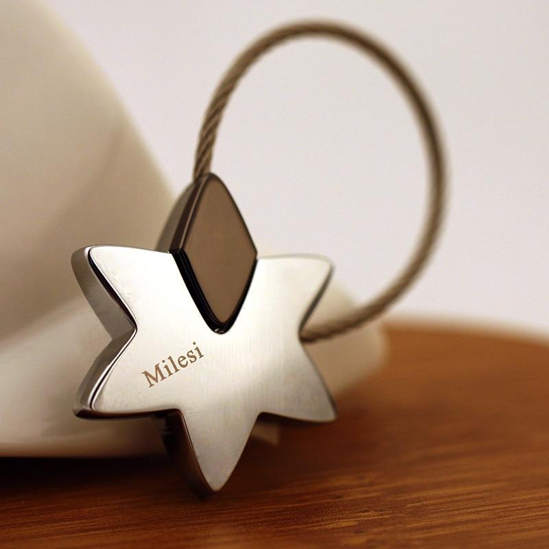 Milesi - Merek Baru Superstar Bintang Keychain Gantungan kunci Cincin untuk Wanita Pria Novelty inovatif perhiasan Souvenir liontin