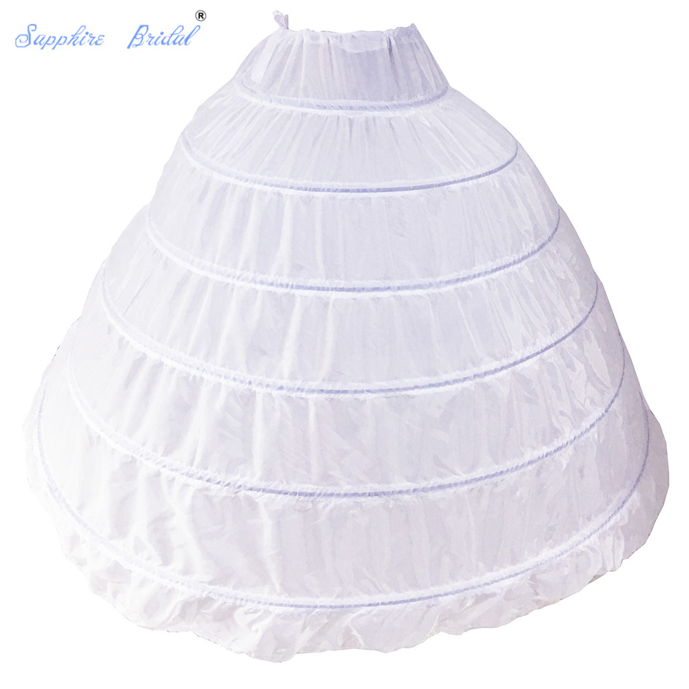 Sapphire Bridal Womens 6 Hopps Bridal Crinoline Petticoat For Ball Gown Wedding Dress
