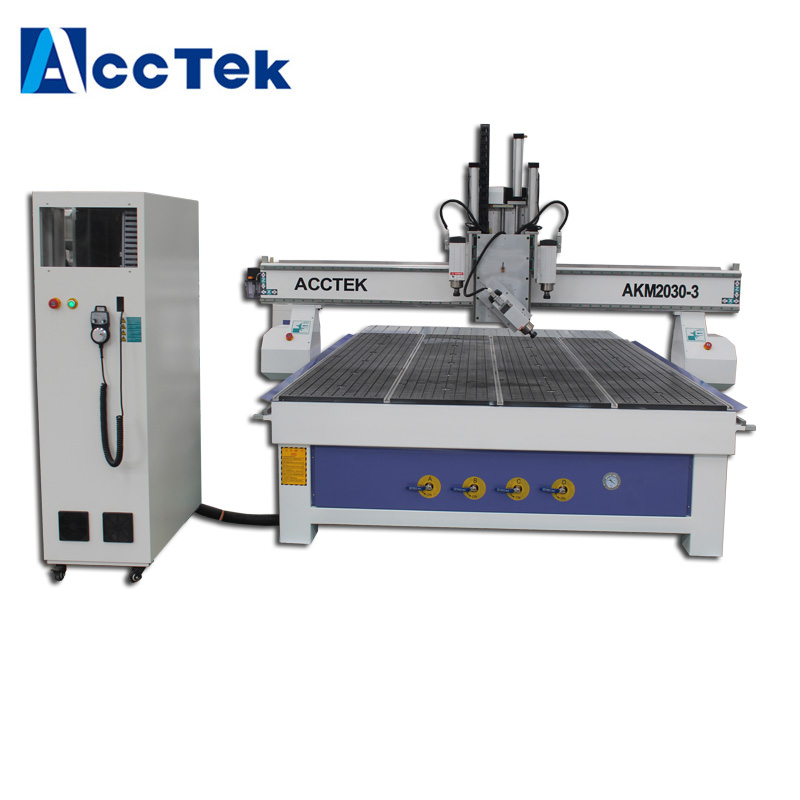 Wooden Furniture carved 3d wood 4 axis cnc router machine AKM2030 3d wood processing machinery strength training