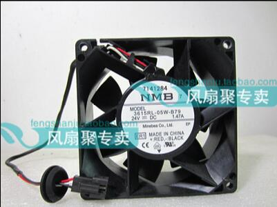 Brand new original NMB 3615RL-05W-B79 9CM 92*92*38 24V 1.47A 3 wire inverter fan waterproof new original nmb 9cm9038 3615rl 05w b49 24v0 73a 92 92 38mm large volume inverter fan