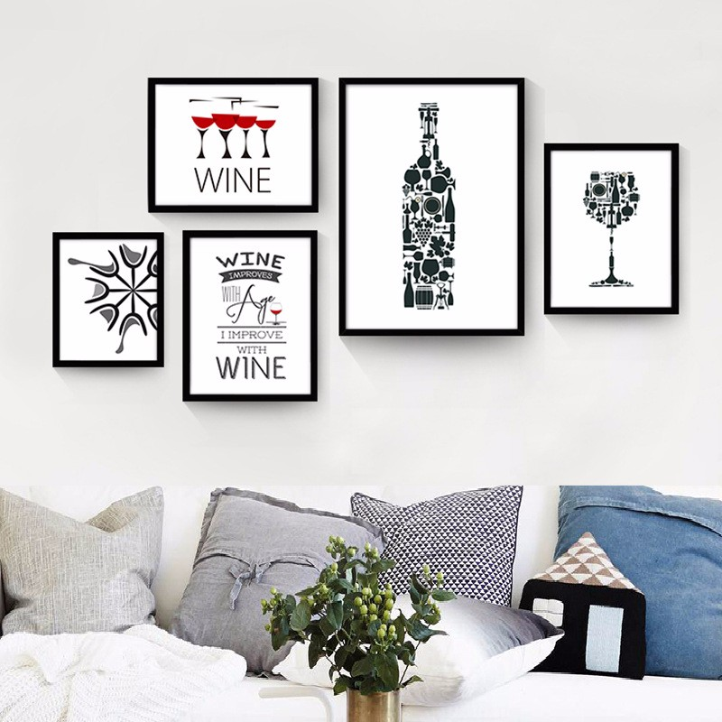 Buy new modern paintings simple modern for Black and white mural prints