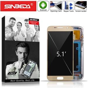 Image 1 - Super AMOLEDสำหรับSAMSUNG Galaxy S7 จอแสดงผลLCDหน้าจอสัมผัสDigitizerกรอบสำหรับSAMSUNG S7 จอแสดงผลG930 G930F LCDจอแสดงผล