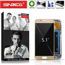 Super AMOLED do SAMSUNG Galaxy S7 wyświetlacz LCD ekran dotykowy z ramką Digitizer do SAMSUNG S7 wyświetlacz G930 G930F wyświetlacz LCD