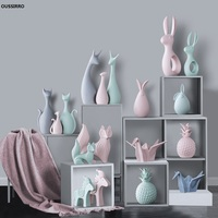 OUSSIRRO Nordic ornaments ceramic home accessories living room wine cabinet decorations creative home room decoration gifts