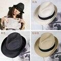 Verano Flojo de la Playa de la Paja Sombreros para el Sol Para Las Mujeres, Clásico Panamá Sombrero de Ala Ancha, sombrero de paja, chapeau femme paille ete, chapéu feminin