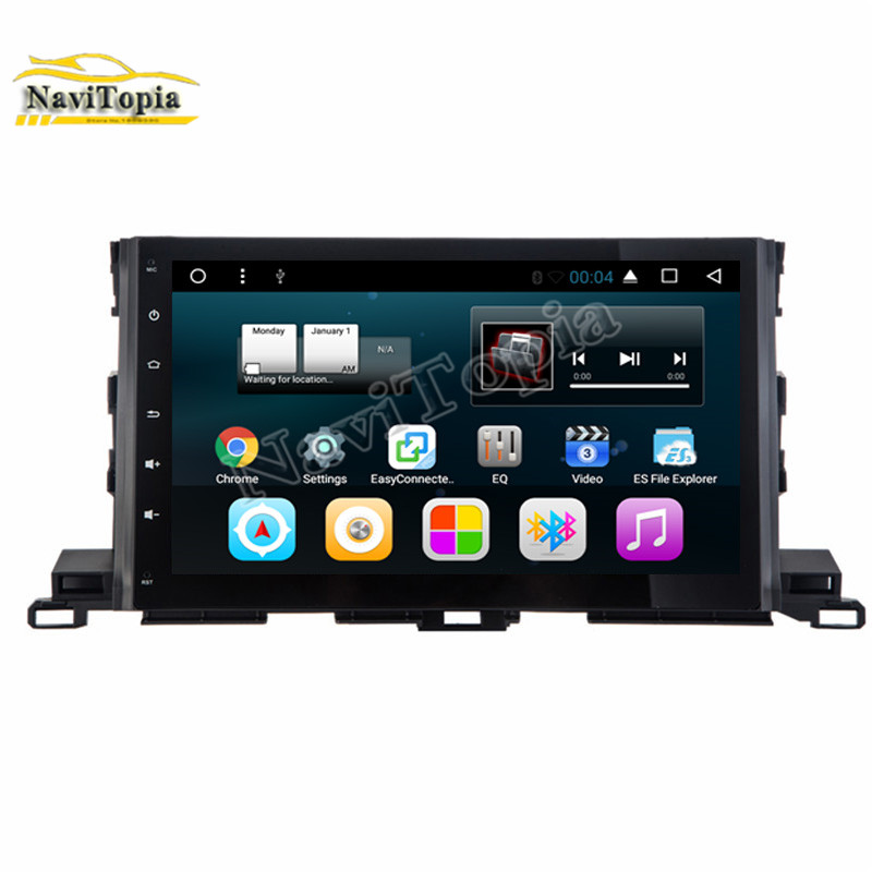 NAVITOPIA Quad Core Android 7.1 Car Multimedia Player for Toyota Highlander 2015 Car Video Radio Stereo Players GPS