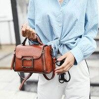 AUAU-Весенняя кожаная сумка, женские маленькие винтажные сумки через плечо для женщин, сумка через плечо, Женская коричневая