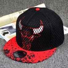 2016 Hot USA New Bulls Snapback Hat Adjustable Baseball Cap Bones Hip Hop Hats America font