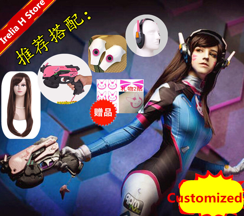 DVA cosplay Song Hana cosplay costume jumpsuit cos d.va cosplay for Child costume made customized 2
