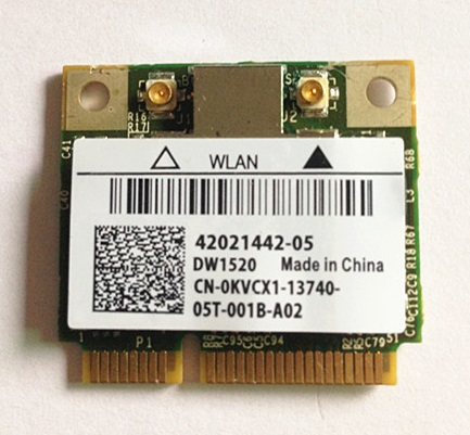 SSEA for <font><b>DW1520</b></font> BCM4322 Half MINI PCI-E 802.11 a/b/g/n Broadcom BCM943224HMS Wireless Card for dell Inspiron 1320 1370 1440 image
