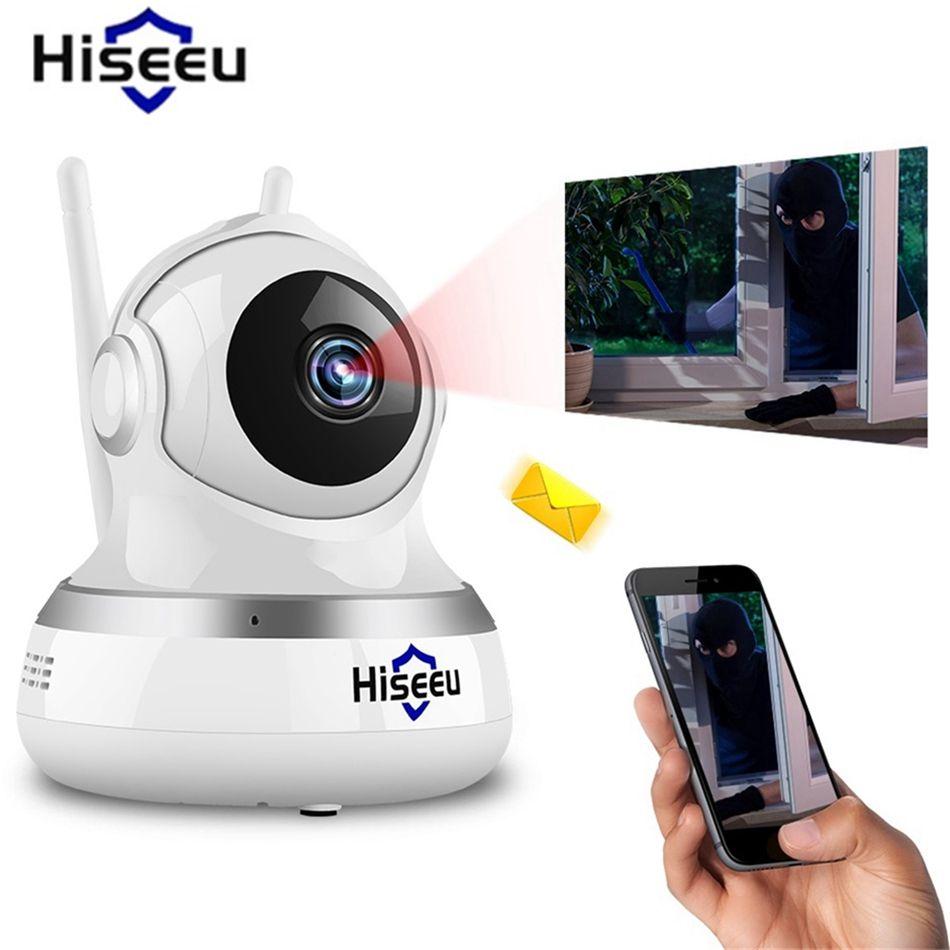 Hiseeu 1080P 2.0MP WiFi IP Camera CCTV Video Surveillance P2P IR Security Cloud TF Card Storage Camera Pan Tilt Baby Monitor