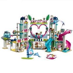 Новые друзья хартлейк Сити Резорт Совместимость Legoingly друзья строительный блок кирпичные игрушки девочка Дети Рождественские подарки