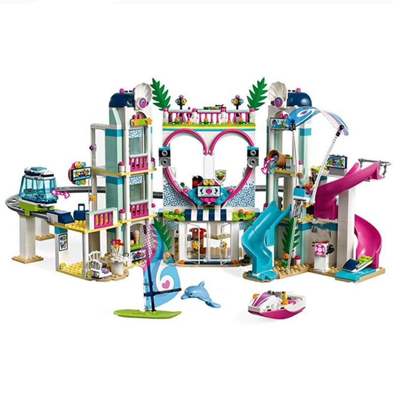 Nouveaux amis le centre de villégiature de la ville Compatible avec les amis blocs de construction briques jouets fille enfants cadeaux de noël