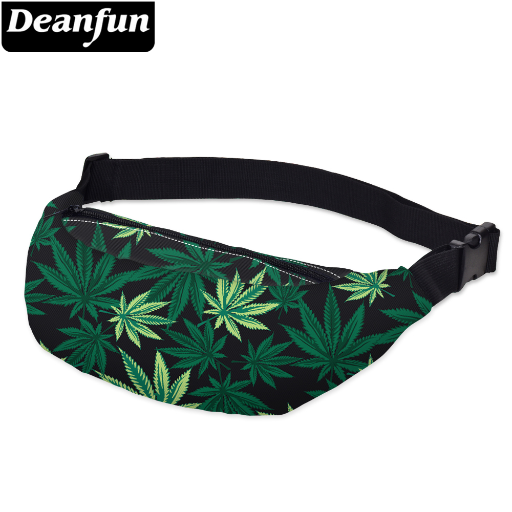 Deanfun 3D Printing Waist Bags Leaves Fashion Fanny Pack For Women Travelling YB7
