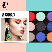 Ideal Vigor Diamond Glitter Foiled 9Colors Eyeshadow Palette Blush Makeup Set Beauty Skeleton Eye Shadow High Quality Halloween