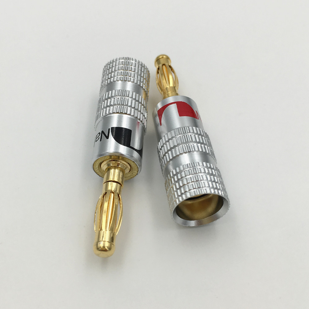 20Pcs New Type 4mm Nakamichi Banana Plug for Video 24K Gold Plated ...