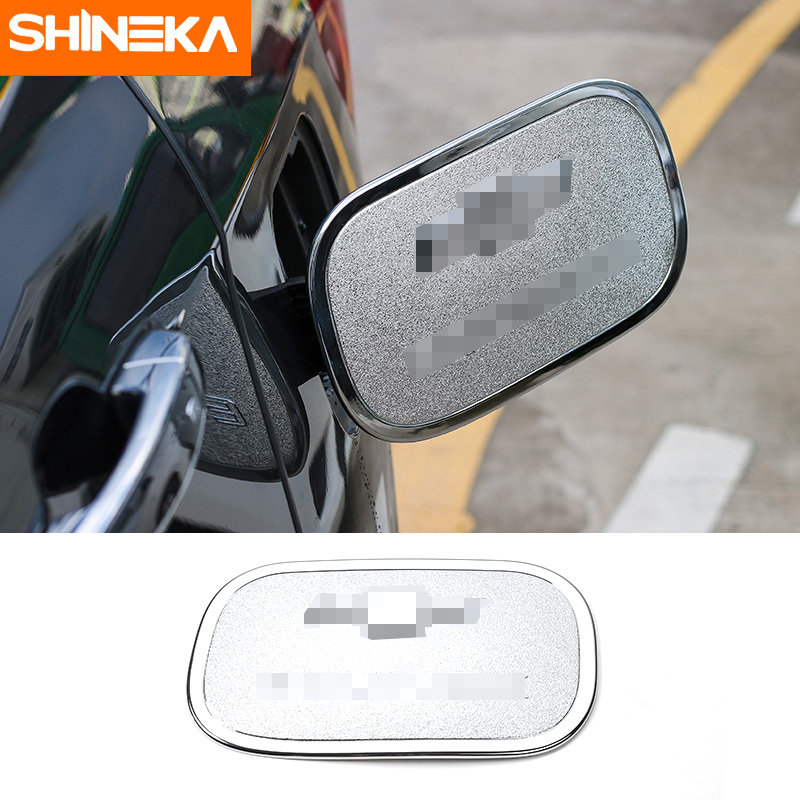 SHINEKA Car Styling Accessories Gas Cap Fuel Tank Cover for Chevrolet Equinox 2017 ABS Silver car door abs handle cover silver 4pcs